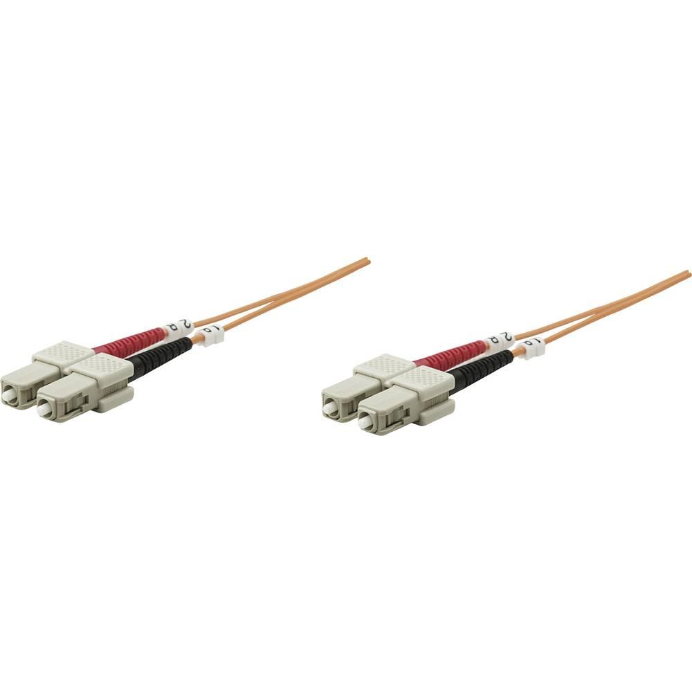 Priključni kabel iz optičnih vlaken [1x SC-vtič - 1x SC-vtič] 62,5/125µ multi-način OM1 3 m Intellinet