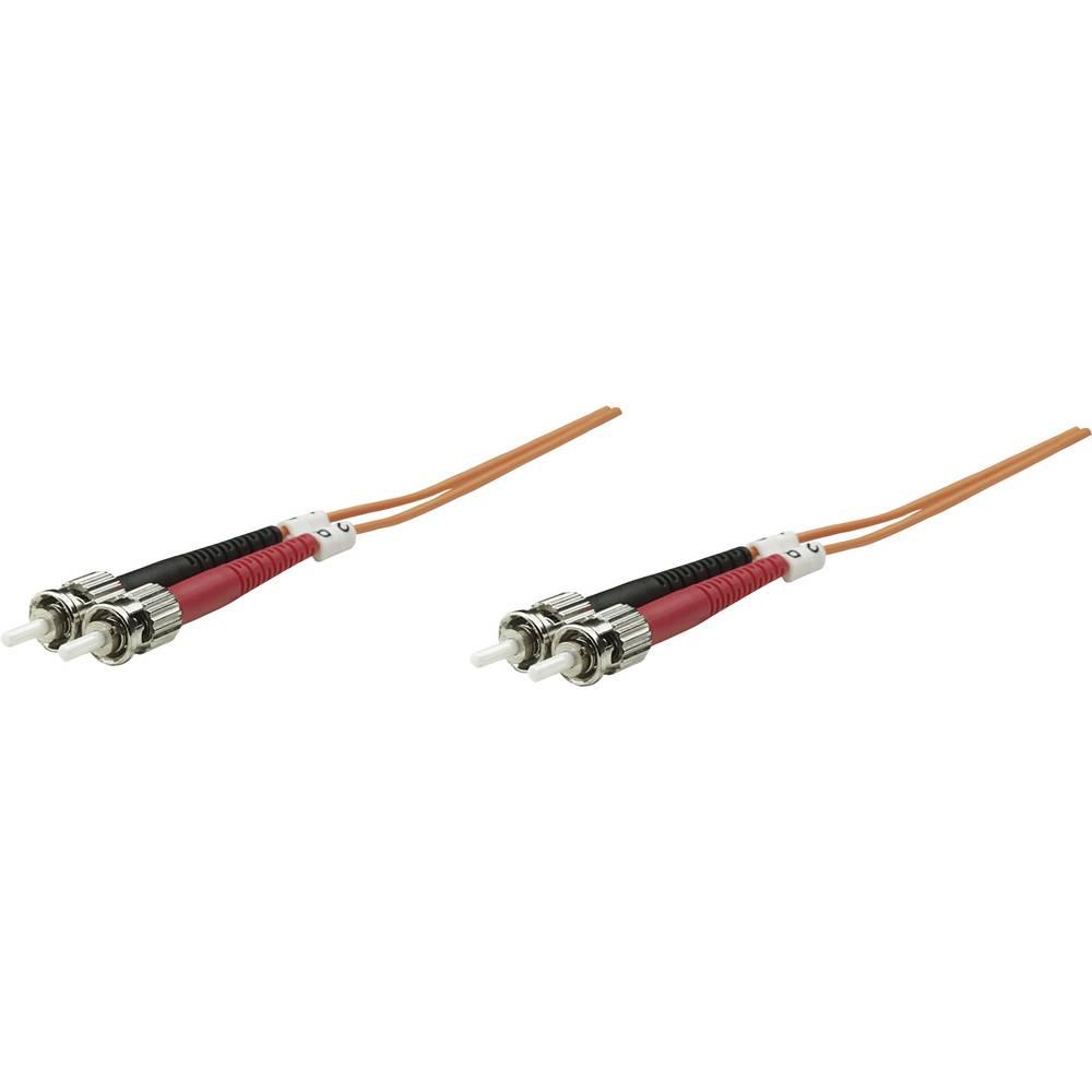 Priključni kabel iz optičnih vlaken [1x ST-vtič - 1x ST-vtič] 62,5/125µ multi-način OM1 1 m Intellinet