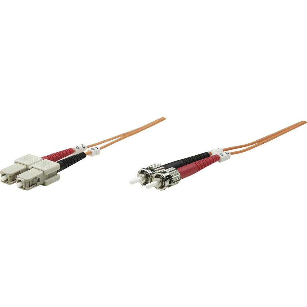 Priključni kabel iz optičnih vlaken [1x ST-vtič - 1x SC-vtič] 62,5/125µ multi-način OM1 2 m Intellinet