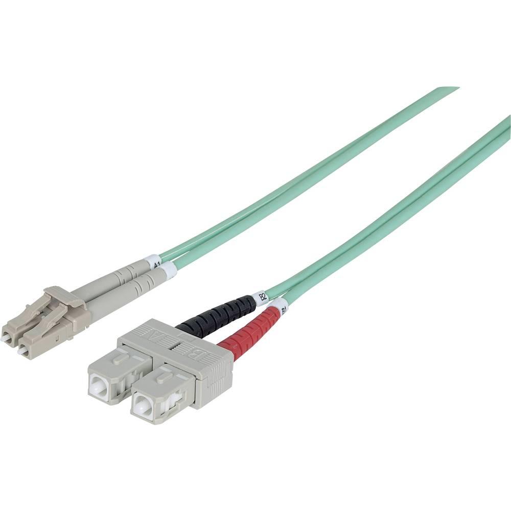 Priključni kabel iz optičnih vlaken [1x LC-vtič - 1x SC-vtič] 50/125µ multi-način OM3 2 m Intellinet
