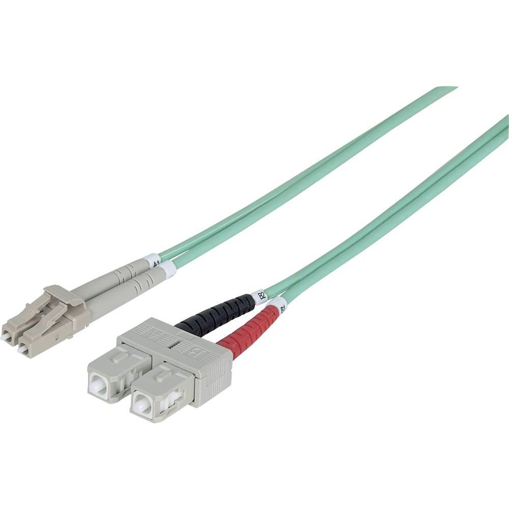 Priključni kabel iz optičnih vlaken [1x LC-vtič - 1x SC-vtič] 50/125µ multi-način OM3 3 m Intellinet