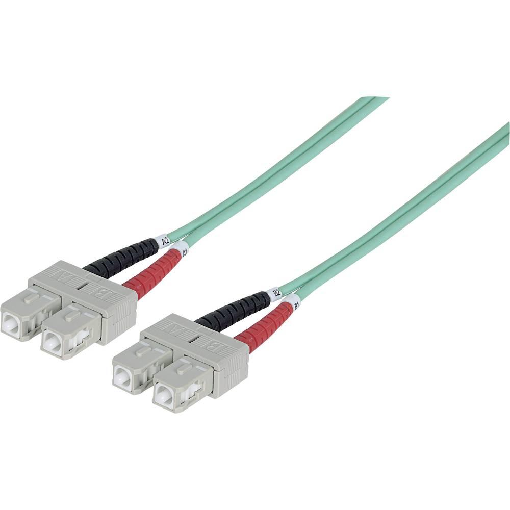 Priključni kabel iz optičnih vlaken [1x SC-vtič - 1x SC-vtič] 50/125µ multi-način OM3 1 m Intellinet