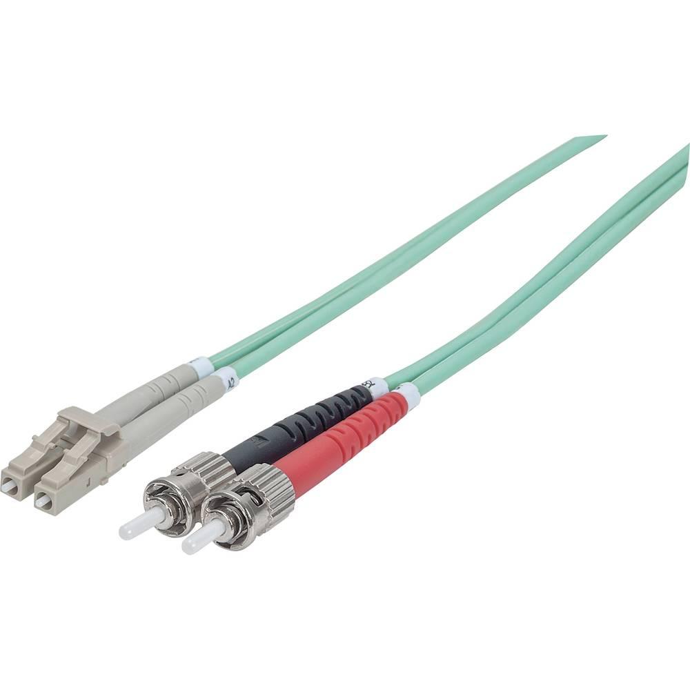 Priključni kabel iz optičnih vlaken [1x ST-vtič - 1x LC-vtič] 50/125µ multi-način OM3 1 m Intellinet