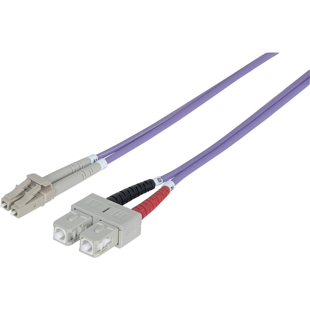 Priključni kabel iz optičnih vlaken [1x LC-vtič - 1x SC-vtič] 50/125µ multi-način OM4 10 m Intellinet