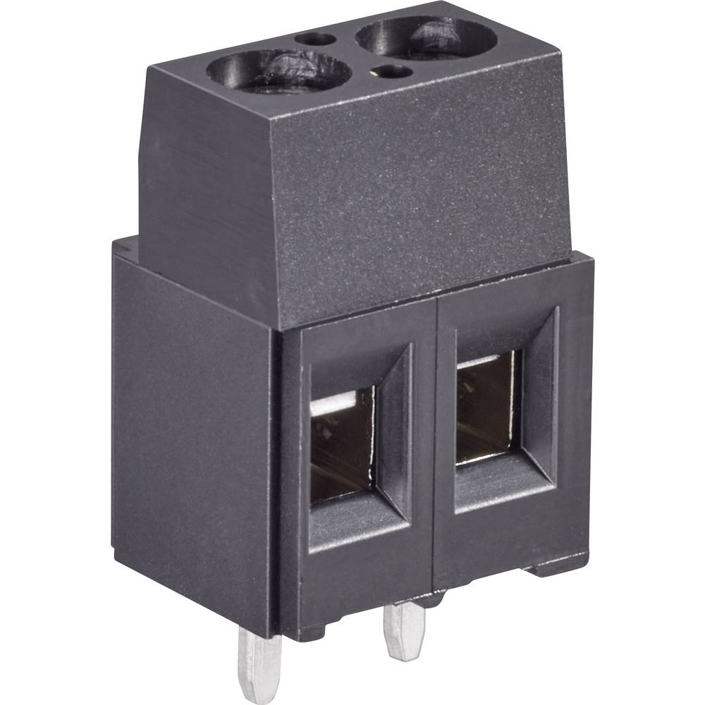 Skrueklemmeblok TE Connectivity 282834-2 1.4 mm² Poltal 2 Grøn 1 stk