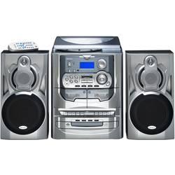 Kompaktstereo Karcher KA 5300 CD, Kassett, MW, Skivspelare, FM Silver