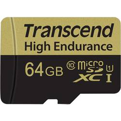 microSDXC-kartica 64 GB Transcend High Endurance Class 10 vklj. z SD-adapterjem