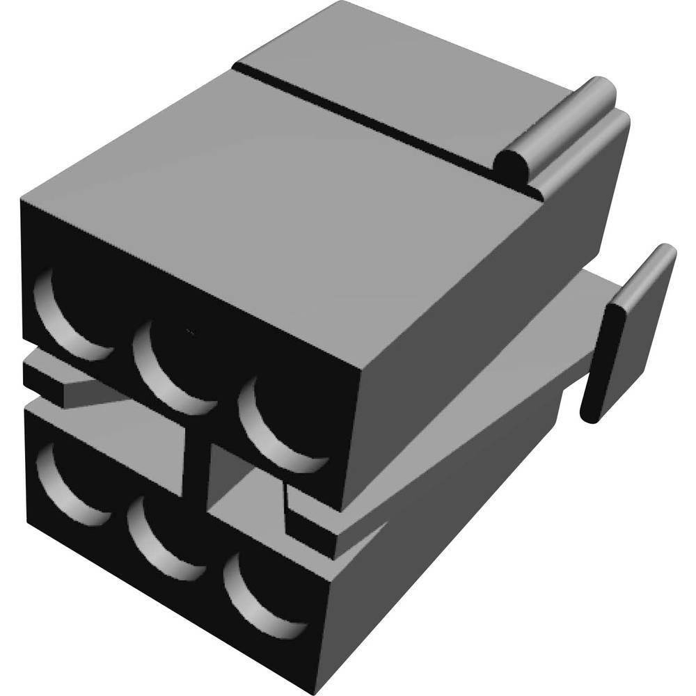 Ohišje kabelskega vtiča, skupno št. polov: 6 TE Connectivity 1-480270-0 razporeditev kontaktov: 5.08 mm 1 kos