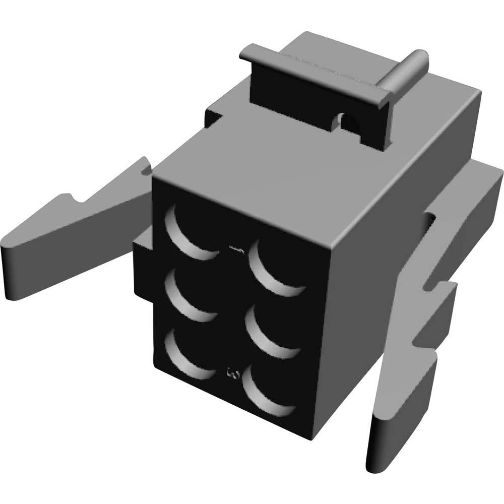 Ohišje kabelskega vtiča, skupno št. polov: 6 TE Connectivity 1-480273-0 razporeditev kontaktov: 5.08 mm 1 kos