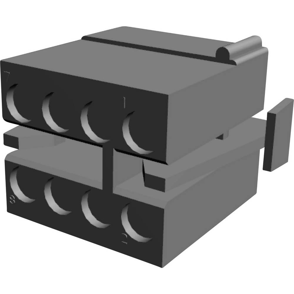 Tilslutningskabinet-kabel MATE-N-LOK (value.1360599) Samlet antal poler 8 TE Connectivity 1-480283-0 Rastermål: 5.08 mm 1 stk
