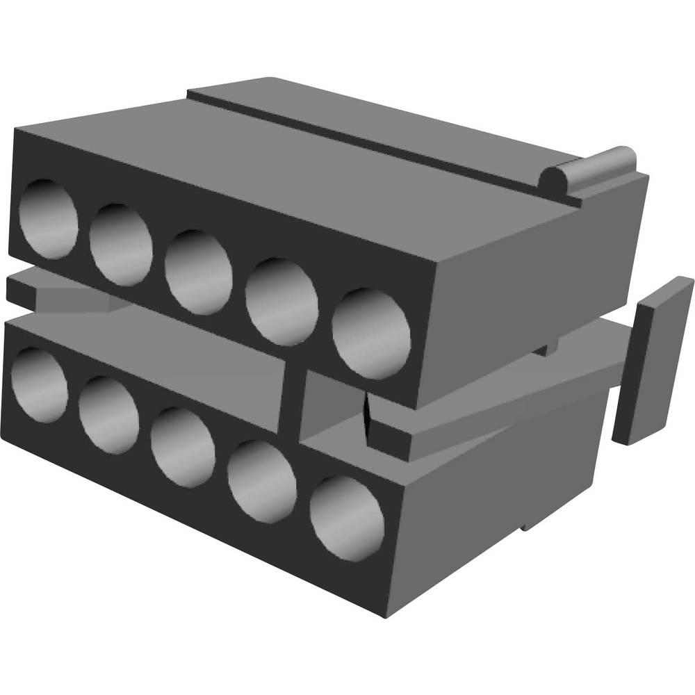Ohišje kabelske vtičnice, skupno št. polov: 10 TE Connectivity 1-480285-0 razporeditev kontaktov: 5.08 mm 1 kos
