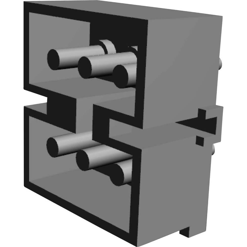 Stiftkabinet-printplade MATE-N-LOK (value.1360599) Samlet antal poler 6 TE Connectivity 1-380999-0 Rastermål: 5.08 mm 1 stk