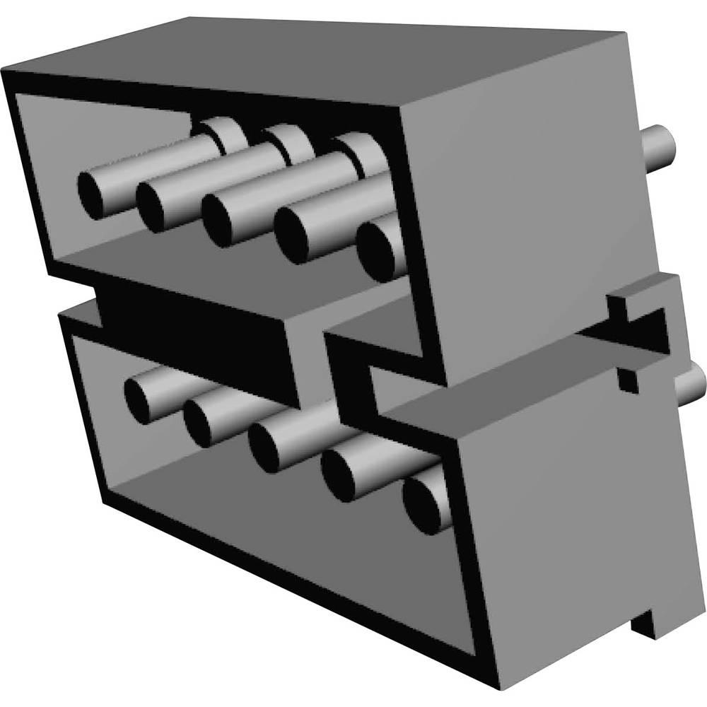 Stiftkabinet-printplade MATE-N-LOK (value.1360599) Samlet antal poler 10 TE Connectivity 1-380991-0 Rastermål: 5.08 mm 1 stk