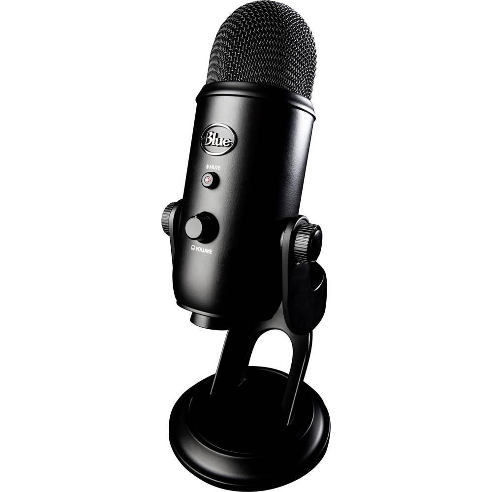USB mikrofon Blue Microphones YETI BLACKOUT spajanje kablom podnožje