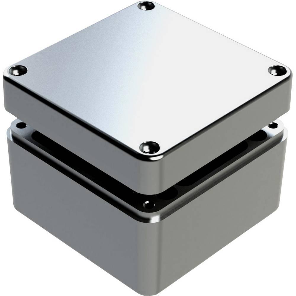 Universalkabinet 125 x 125 x 90 Aluminium Grå Deltron Enclosures 487-121209A-66 1 stk
