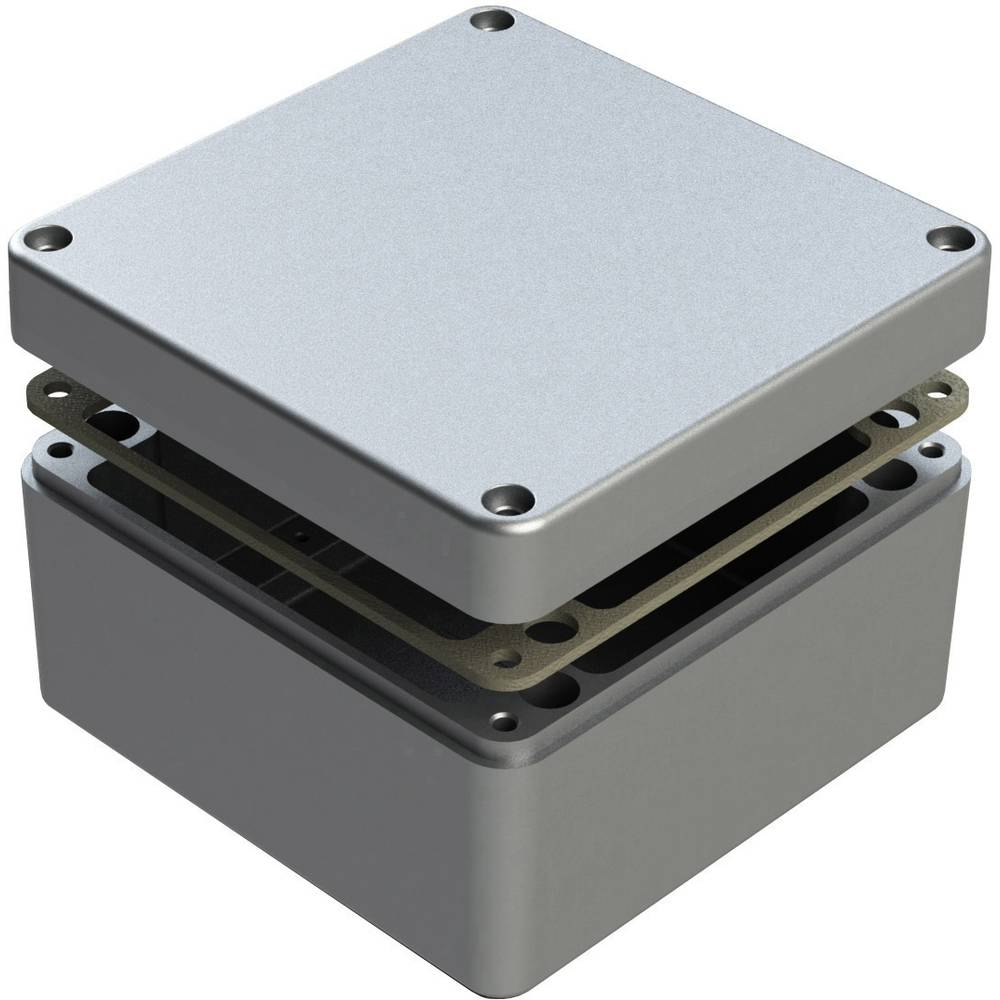 Universalkabinet 160 x 160 x 90 Aluminium Natur Deltron Enclosures 486-161609-68 1 stk