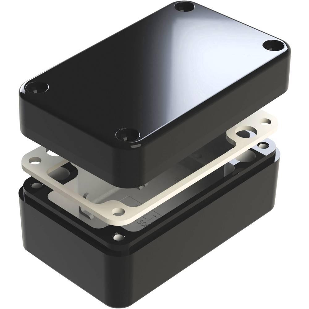 Universalkabinet 130 x 80 x 60 Aluminium Sort Deltron Enclosures 487-130806E-68 1 stk