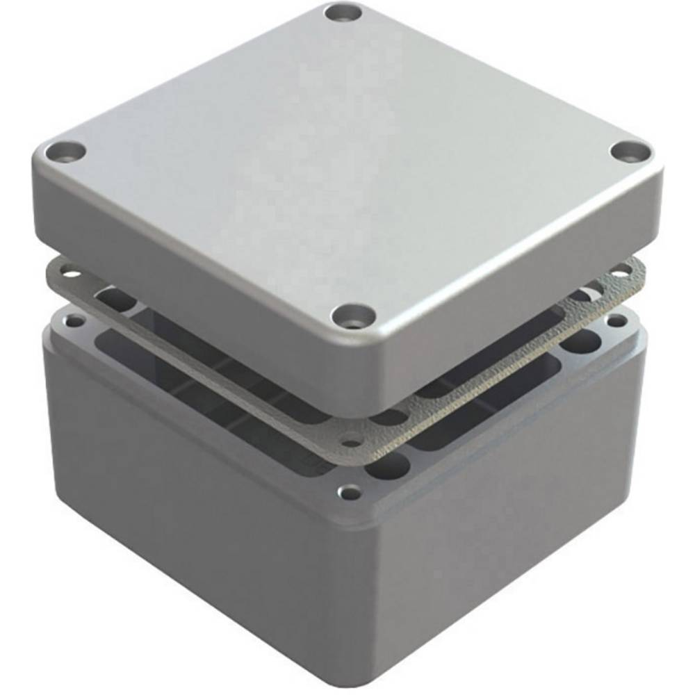 Universalkabinet 125 x 125 x 90 Aluminium Natur Deltron Enclosures 486-121209-66 1 stk