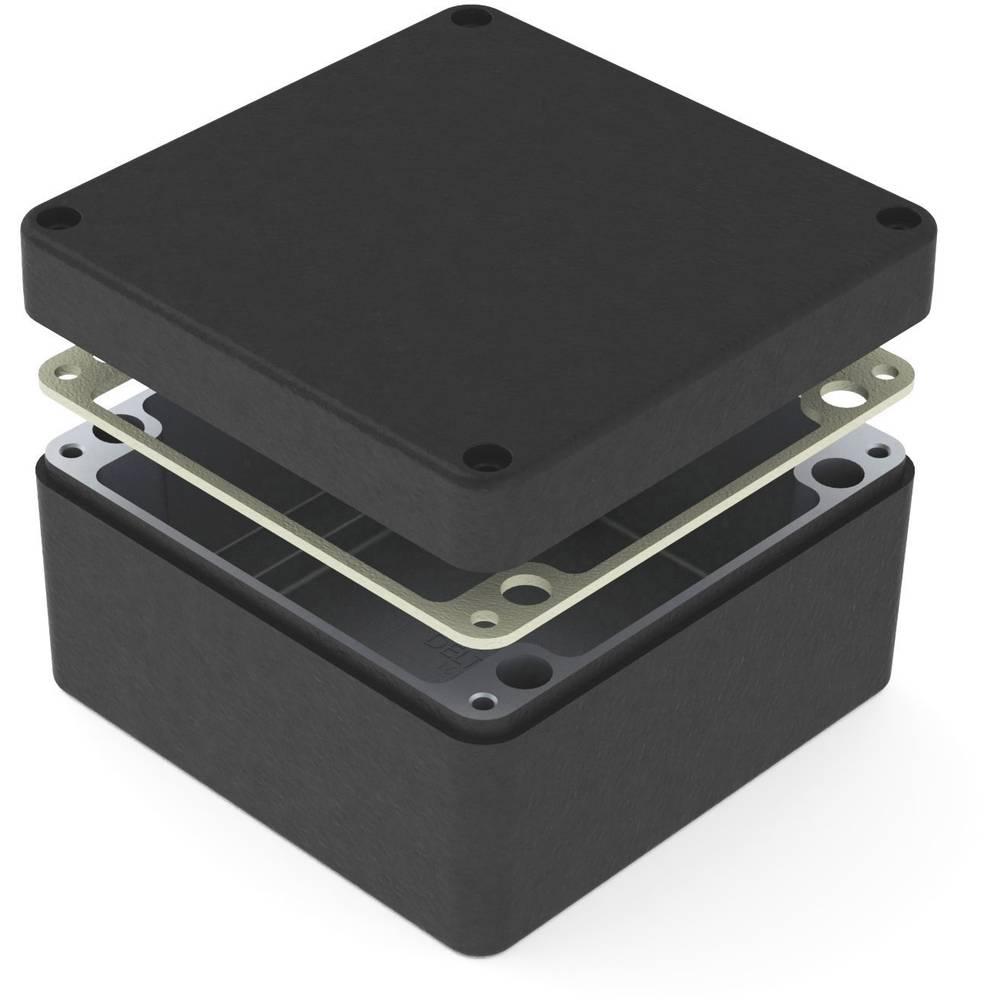 Universalkabinet 160 x 160 x 90 Aluminium Sort Deltron Enclosures 487-161609E-66 1 stk