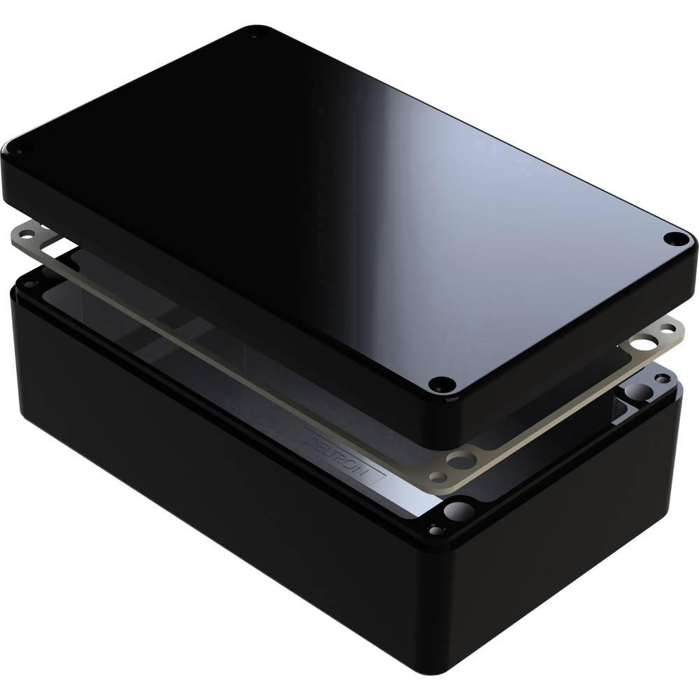 Universalkabinet 220 x 120 x 80 Aluminium Sort Deltron Enclosures 487-221208E-68 1 stk