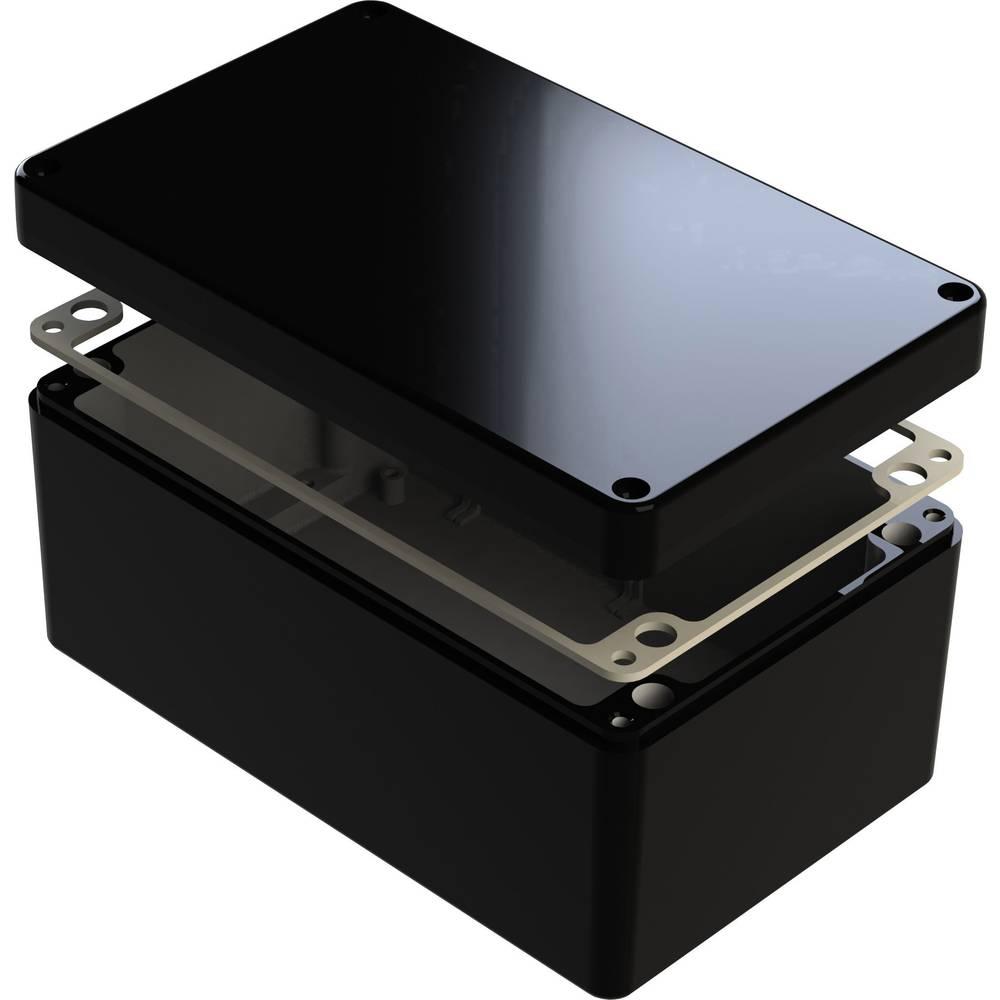 Universalkabinet 260 x 160 x 120 Aluminium Sort Deltron Enclosures 487-261612E-68 1 stk
