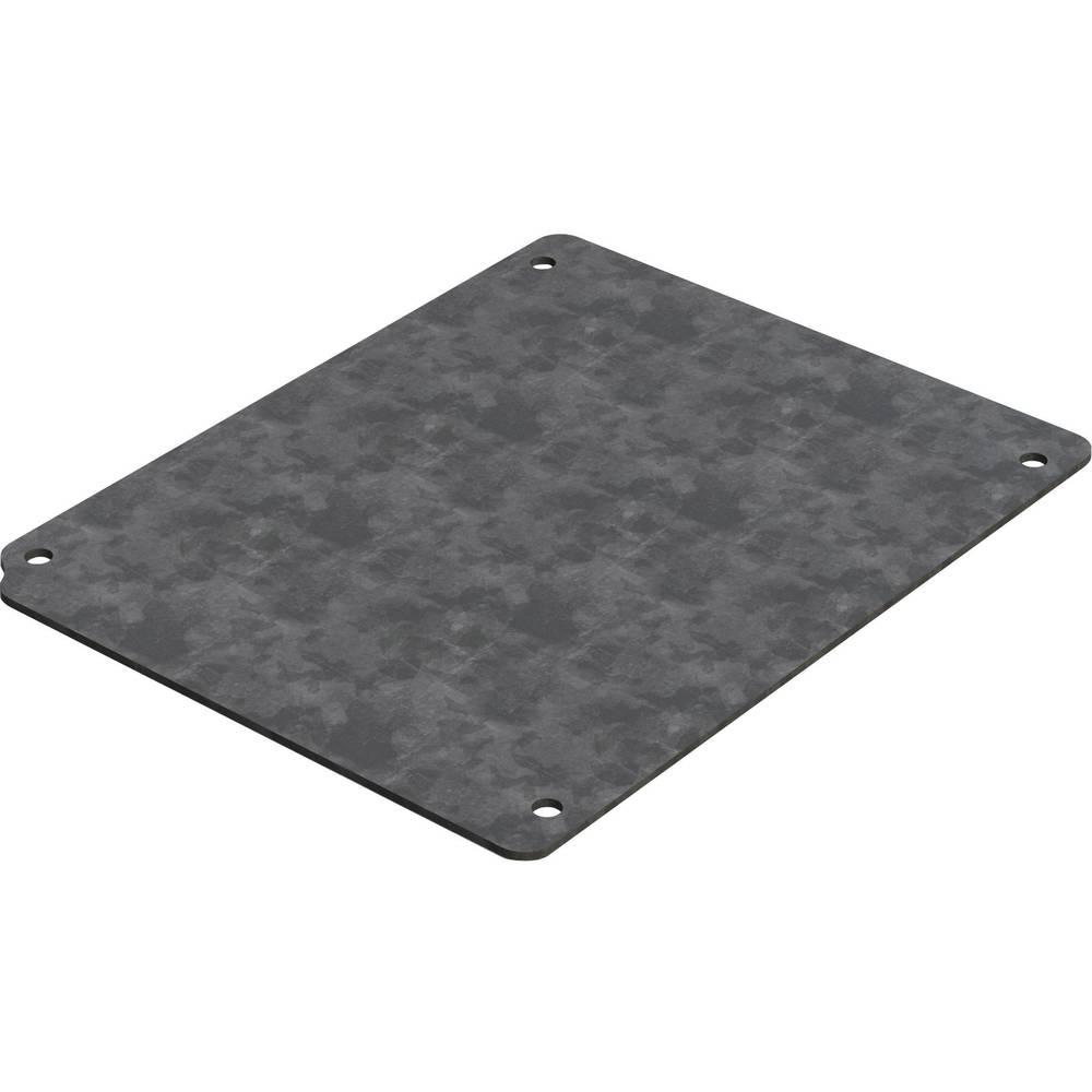 Monteringsplade Deltron Enclosures 4MP1616 (L x B) 142 mm x 112 mm Stålplade 1 stk