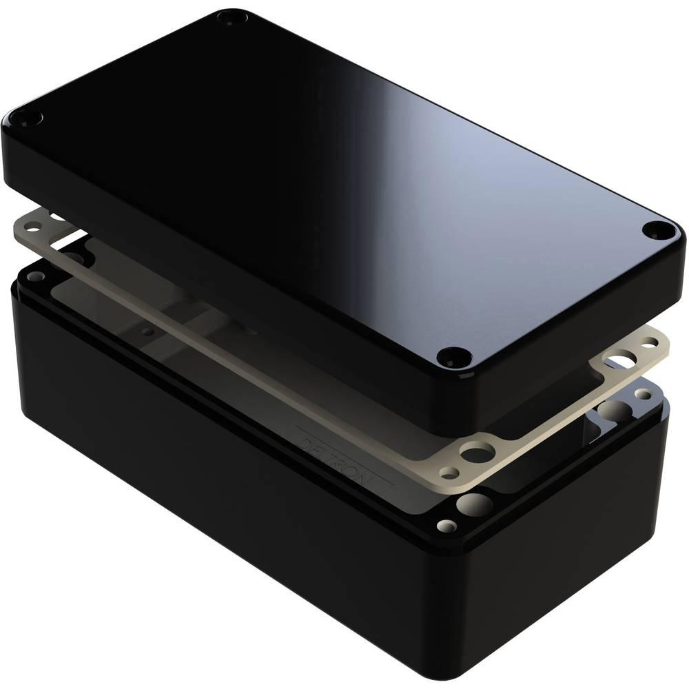 Universalkabinet 260 x 160 x 90 Aluminium Sort Deltron Enclosures 487-261609E-68 1 stk