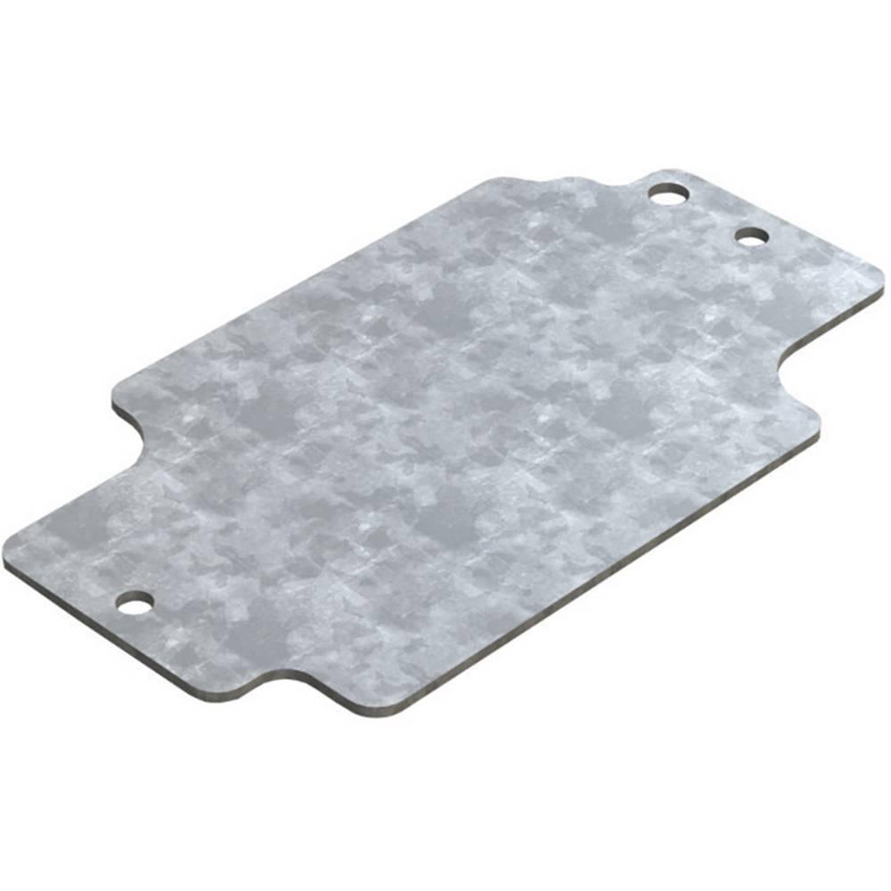 Monteringsplade Deltron Enclosures 4MP1308 (L x B) 114.7 mm x 64.3 mm Stålplade 1 stk