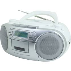 DAB+ CD-Radio SoinMaster SCD7900 AUX, CD, DAB+, kasete, UKV, USB bela