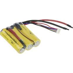 Aku paket 3x18650 Kabel, Vtikač LiFePO 5 XCell Reihe F1x3 9.9 V 1100 mAh