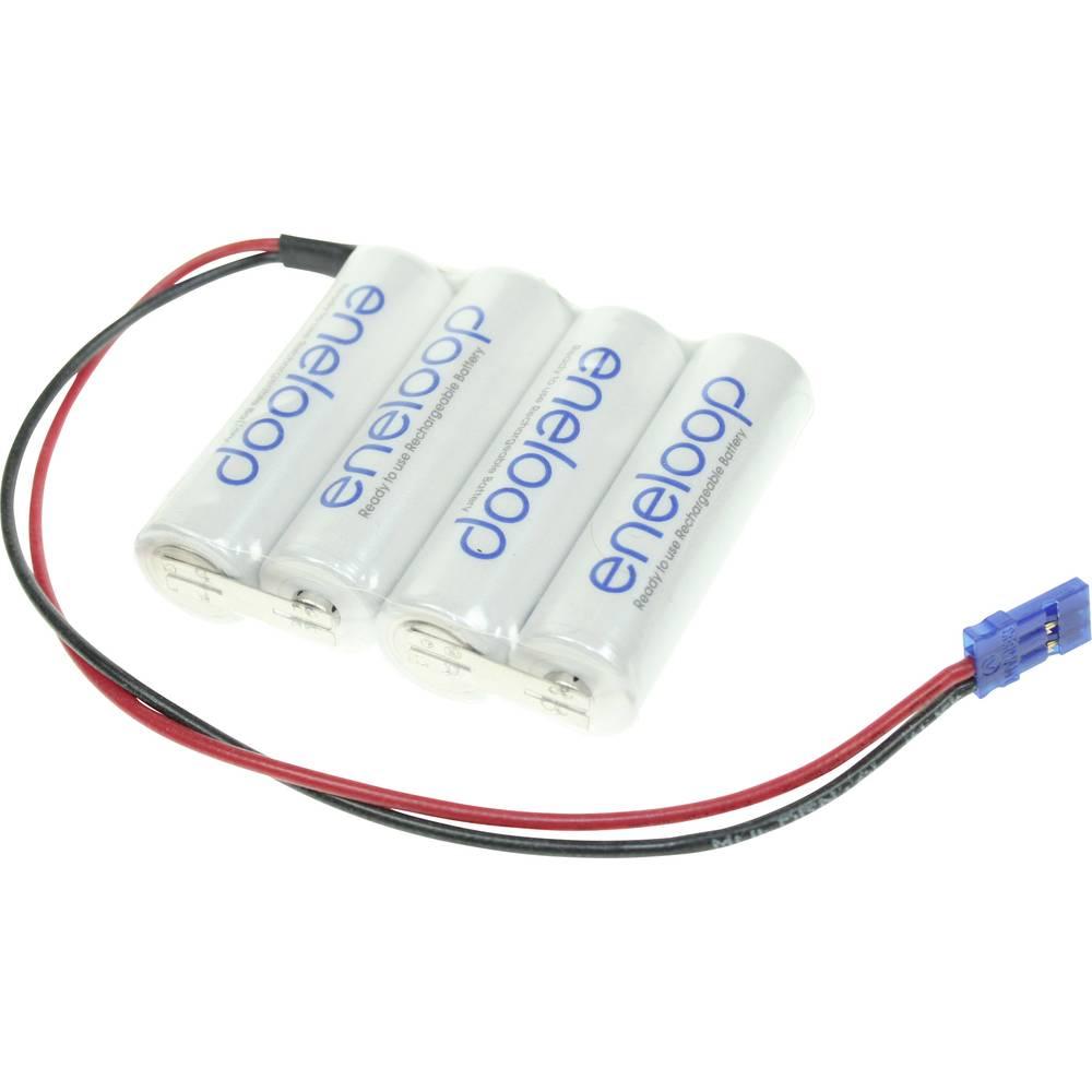 Akumulatorski paket Panasonic eneloop Reihe F1x4 Graupner 4.8 V 1900 mAh, 4 Mignon (AA), kabel, vtič