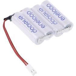 aku paket 4x mignon (aa) kabel, vtikač nimh Panasonic eneloop Reihe F1x4 Futaba 4.8 V 1900 mAh