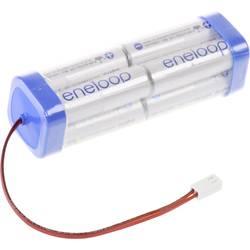 aku paket 8x mignon (aa) kabel, vtikač nimh Panasonic eneloop Doppelwürfel F2x2x2 Futaba 9.6 V 1900 mAh
