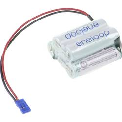 Akumulatorski paket 5 Mignon (AA) Kabel, vtič NiMH Panasonic eneloop Trapez F2x3 Graupner 6 V 1900 mAh