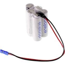 aku paket 5x mignon (aa) kabel, vtikač nimh Panasonic eneloop Würfel F2x2+1 Graupner 6 V 1900 mAh