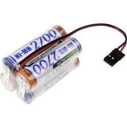 Akumulatorski paket 4 Mignon (AA) kabel, vtič NiMH Panasonic kocka F2x2 Graupner 4.8 V 2700 mAh