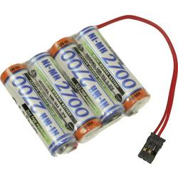 aku paket 4x mignon (aa) kabel, vtikač nimh Panasonic Reihe F1x4 Graupner 4.8 V 2700 mAh