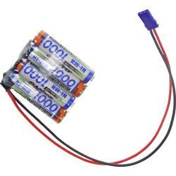 aku paket 4x micro (aaa) kabel, vtikač nimh Panasonic Reihe F1x4 Graupner 4.8 V 1000 mAh