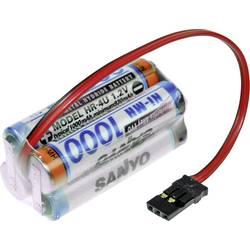 aku paket 4x micro (aaa) kabel, vtikač nimh Panasonic Würfel F2x2 Graupner 4.8 V 1000 mAh