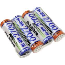 Akumulatorski paket 4 Mignon (AA) U spajkalni priključek NiMH Panasonic vrstica F1x4 4.8 V