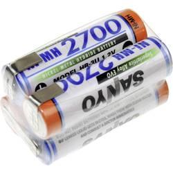 Akumulatorski paket 4 Mignon (AA) U spajkalni priključek NiMH Panasonic kocka F2x2 4.8 V