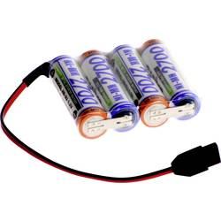 Akumulatorski paket 4 Mignon (AA) Kabel, vtič NiMH Panasonic vrstica F1x4 MPX 4.8 V