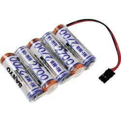 Akumulatorski paket 5 Mignon (AA) Kabel, vtič NiMH Panasonic vrstica 1x5 Graupner 6 V 2700 mAh
