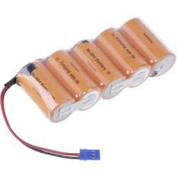 Akumulatorski paket 5 Sub-C Kabel, vtič NiMH Panasonic vrstica F1x5 Graupner 6 V 3000 mAh
