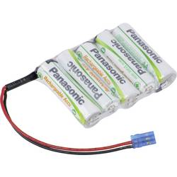 Akumulatorski paket Panasonic Reihe F1x5 Graupner 6 V 1900 mAh, 5 Mignon (AA), kabel, vtič