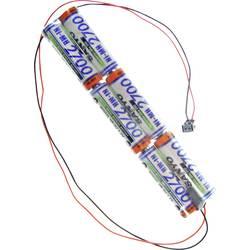 Akumulatorski paket 6 Mignon (AA) Kabel, vtič NiMH Panasonic Inline L2x3 MPX 7.2 V 2700 mAh