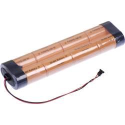Akumulatorski paket 8 Sub-C Kabel, vtič NiMH Panasonic Inline L2x4 Graupner 9.6 V 3000 mAh