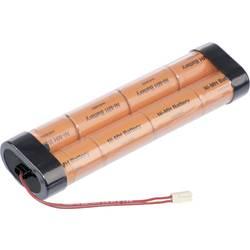 Akumulatorski paket 8 Sub-C Kabel, vtič NiMH Panasonic Inline L2x4 Futaba 9.6 V 3000 mAh