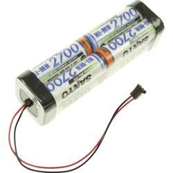 Akumulatorski paket 8 Mignon (AA) Kabel, vtič NiMH Panasonic dvojna kocka F2x2x2 Graupner 9.6 V 2700 mAh