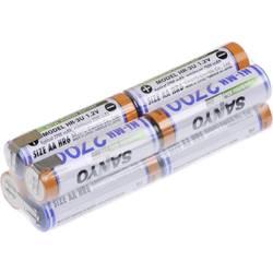 Akumulatorski paket 8 Mignon (AA) U spajkalni priključek NiMH Panasonic dvojna kocka F2x2x2 9.6 V 2700 mAh